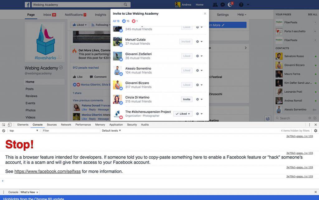javascript per aumentare mi piace facebook