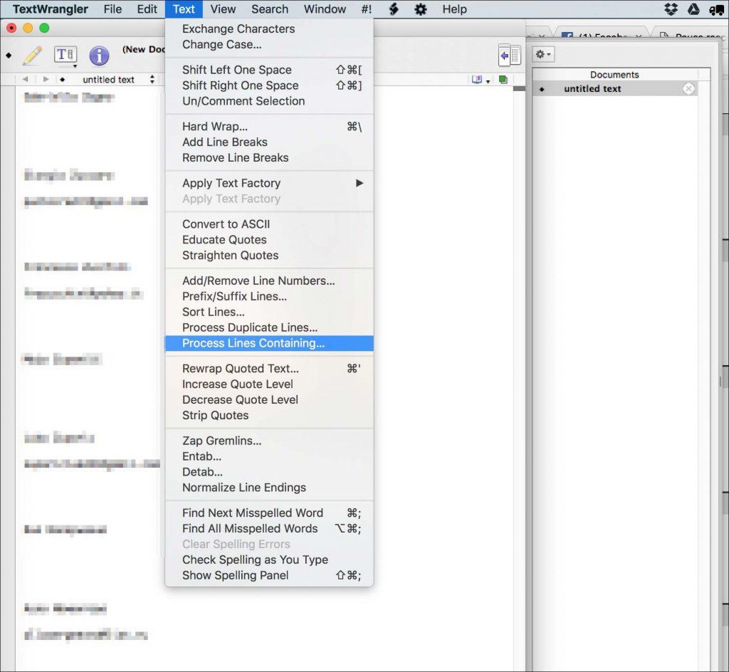 come isolare indirizzi email in file di testo