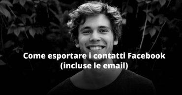 scaricare contatti email