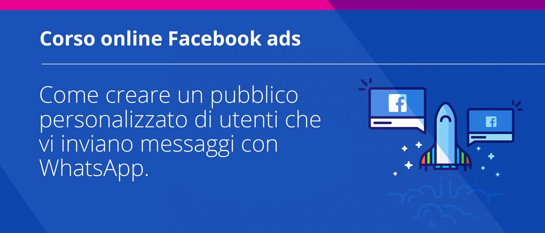 Creare pubblico personalizzato Facebook WhatsApp