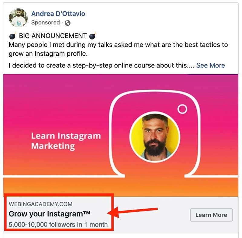 come ottimizzare il copy degli ads facebook